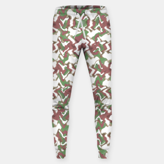 Miniatur Multicolored Texture Print Pattern Sweatpants, Live Heroes
