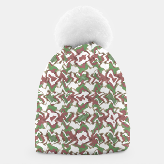 Thumbnail image of Multicolored Texture Print Pattern Beanie, Live Heroes