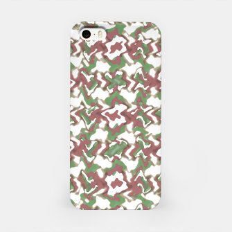 Miniatur Multicolored Texture Print Pattern iPhone Case, Live Heroes