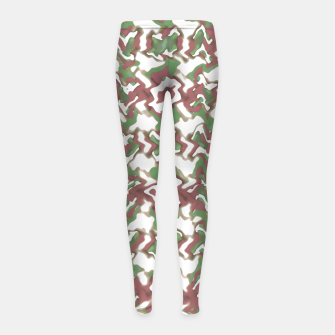 Thumbnail image of Multicolored Texture Print Pattern Girl's leggings, Live Heroes