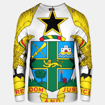 Thumbnail image of Coat of arms of Ghana Unisex sweater, Live Heroes