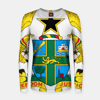 Miniatur Coat of arms of Ghana Women sweater, Live Heroes