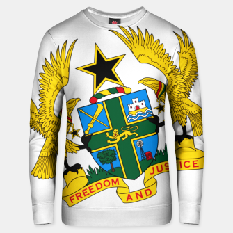 Thumbnail image of GHANAIAN COAT OF ARMS Unisex sweater, Live Heroes