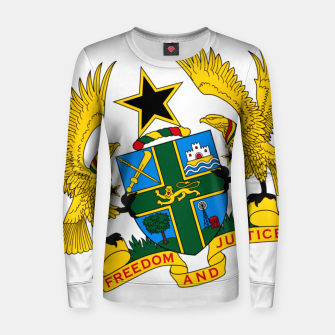 Miniatur GHANAIAN COAT OF ARMS Women sweater, Live Heroes