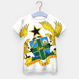 Thumbnail image of GHANAIAN COAT OF ARMS Kid's t-shirt, Live Heroes