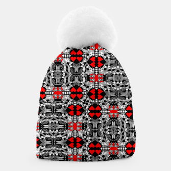 Miniatur KING OF HEARTS (RED AND BLACK) TILED Beanie, Live Heroes