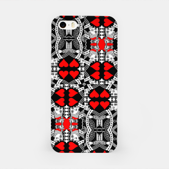 Miniatur KING OF HEARTS (RED AND BLACK) TILED iPhone Case, Live Heroes