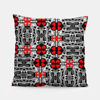 Miniatur KING OF HEARTS (RED AND BLACK) TILED Pillow, Live Heroes