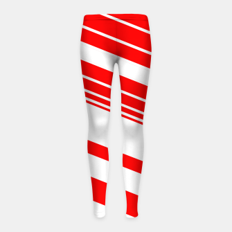 Thumbnail image of PEPPERMINT TUESDAY VERTICAL 2 Girl's leggings, Live Heroes