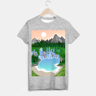 Miniatur Mountains & Whirlpools  T-shirt regular, Live Heroes