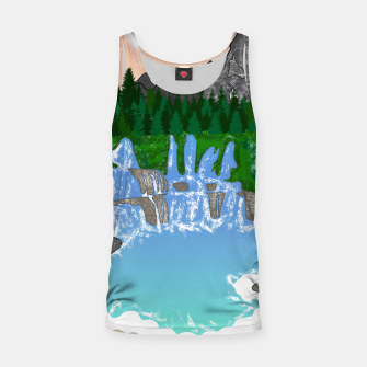 Miniatur Mountains & Whirlpools  Tank Top, Live Heroes