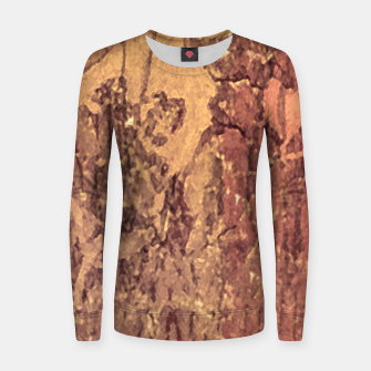 Thumbnail image of Abstract Cracked Texture Print Women sweater, Live Heroes