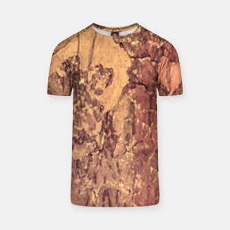 Thumbnail image of Abstract Cracked Texture Print T-shirt, Live Heroes