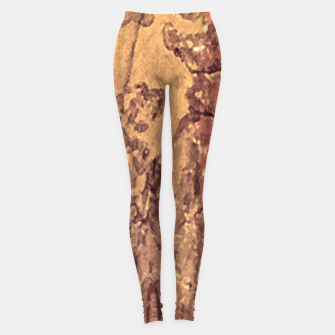 Thumbnail image of Abstract Cracked Texture Print Leggings, Live Heroes