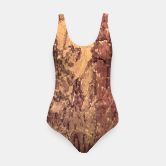 Thumbnail image of Abstract Cracked Texture Print Swimsuit, Live Heroes