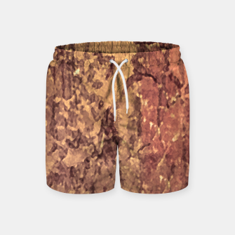 Thumbnail image of Abstract Cracked Texture Print Swim Shorts, Live Heroes