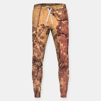 Thumbnail image of Abstract Cracked Texture Print Sweatpants, Live Heroes