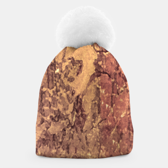 Thumbnail image of Abstract Cracked Texture Print Beanie, Live Heroes