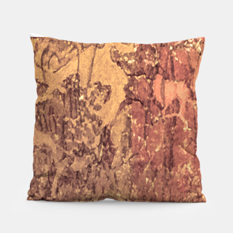 Thumbnail image of Abstract Cracked Texture Print Pillow, Live Heroes