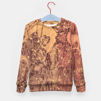 Thumbnail image of Abstract Cracked Texture Print Kid's sweater, Live Heroes