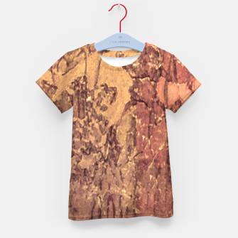 Thumbnail image of Abstract Cracked Texture Print Kid's t-shirt, Live Heroes
