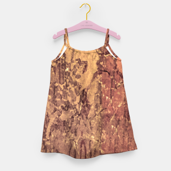Thumbnail image of Abstract Cracked Texture Print Girl's dress, Live Heroes