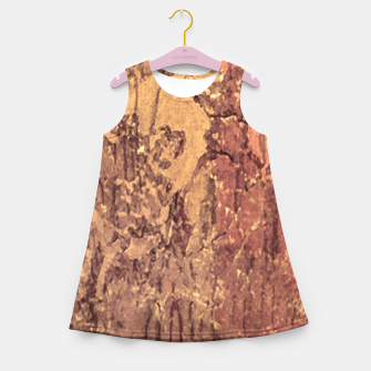 Thumbnail image of Abstract Cracked Texture Print Girl's summer dress, Live Heroes