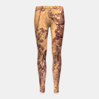 Thumbnail image of Abstract Cracked Texture Print Girl's leggings, Live Heroes