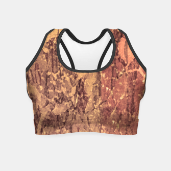 Thumbnail image of Abstract Cracked Texture Print Crop Top, Live Heroes