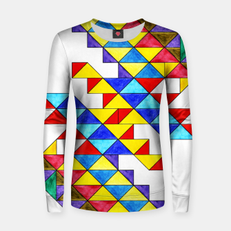 Miniature de image de Centrally Reflective Triangles Women sweater, Live Heroes