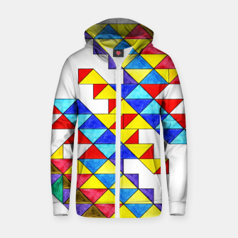 Miniature de image de Centrally Reflective Triangles Zip up hoodie, Live Heroes