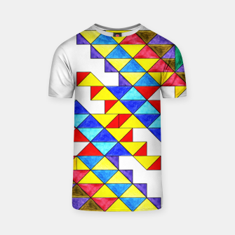 Miniature de image de Centrally Reflective Triangles T-shirt, Live Heroes