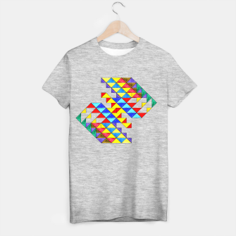 Imagen en miniatura de Centrally Reflective Triangles T-shirt regular, Live Heroes