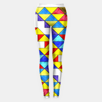 Miniature de image de Centrally Reflective Triangles Leggings, Live Heroes