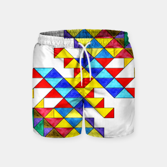 Miniature de image de Centrally Reflective Triangles Swim Shorts, Live Heroes