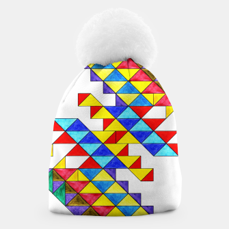 Miniature de image de Centrally Reflective Triangles Beanie, Live Heroes