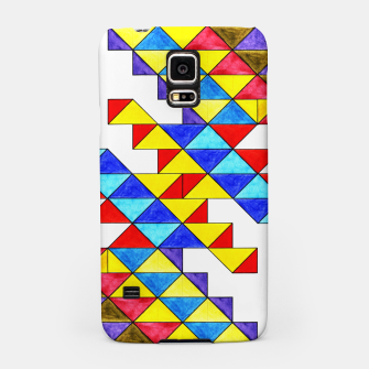Miniaturka Centrally Reflective Triangles Samsung Case, Live Heroes