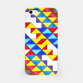 Miniature de image de Centrally Reflective Triangles iPhone Case, Live Heroes