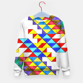 Imagen en miniatura de Centrally Reflective Triangles Kid's sweater, Live Heroes