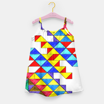 Miniature de image de Centrally Reflective Triangles Girl's dress, Live Heroes