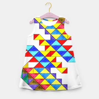 Miniature de image de Centrally Reflective Triangles Girl's summer dress, Live Heroes