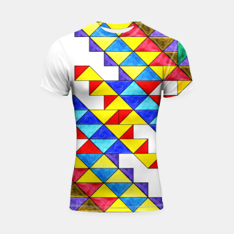 Miniature de image de Centrally Reflective Triangles Shortsleeve rashguard, Live Heroes