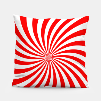 Thumbnail image of PEPPERMINT TUESDAY SWIRL Pillow, Live Heroes