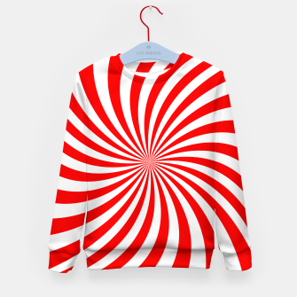 Thumbnail image of PEPPERMINT TUESDAY SWIRL Kid's sweater, Live Heroes