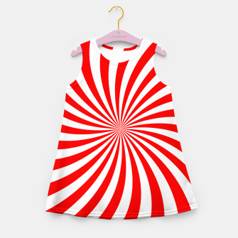 Thumbnail image of PEPPERMINT TUESDAY SWIRL Girl's summer dress, Live Heroes