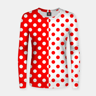Thumbnail image of POLKA DOTS FASHIONISTA Women sweater, Live Heroes