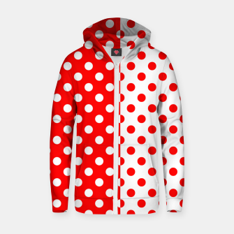 Thumbnail image of POLKA DOTS FASHIONISTA Zip up hoodie, Live Heroes