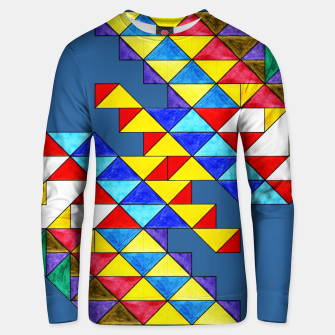 Miniature de image de Centrally Reflective Triangles on Blue Unisex sweater, Live Heroes
