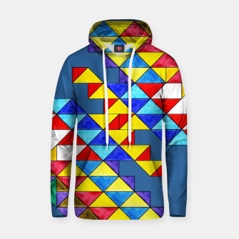 Miniature de image de Centrally Reflective Triangles on Blue Hoodie, Live Heroes