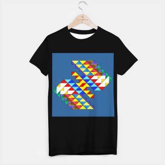 Miniature de image de Centrally Reflective Triangles on Blue T-shirt regular, Live Heroes